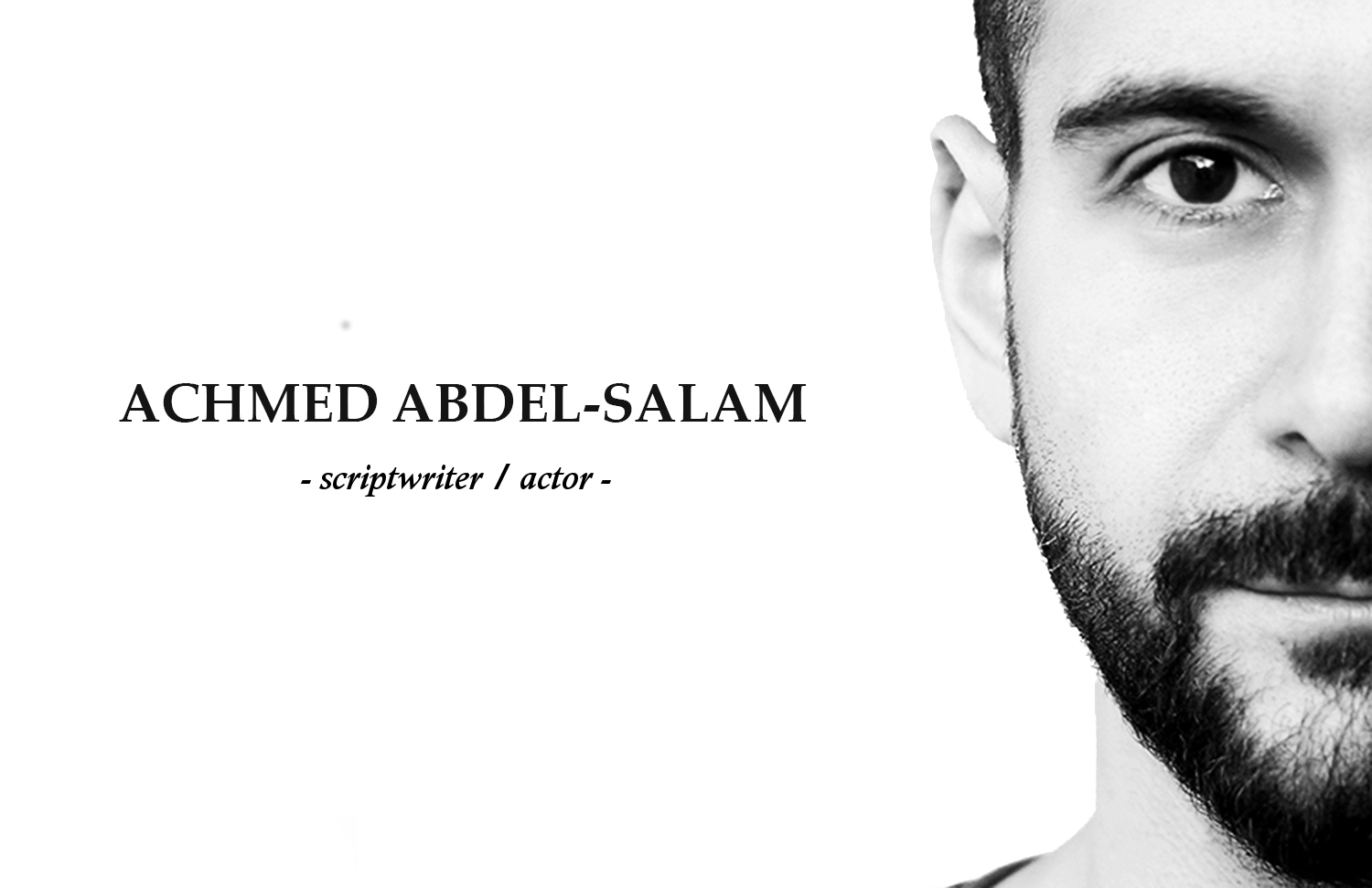 Achmed Abdel Salam Screenwriter Actor
